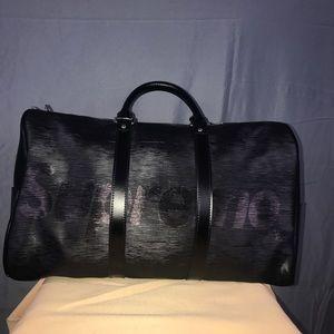Supreme x Louis Vuitton Epi Keepall 55 black